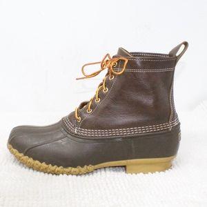 LL Bean 8 inch Dark Brown Ins Duck Boots Size 12